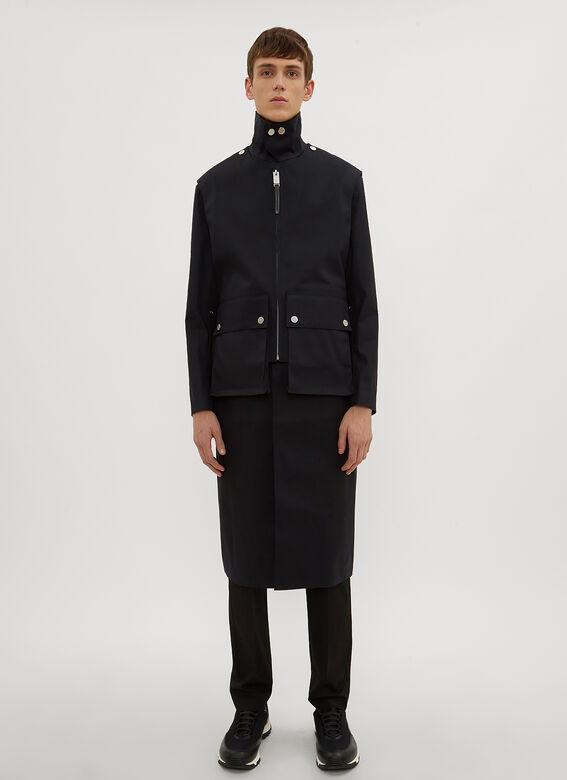 3fefd0e5f3f Alyx X Mackintosh Layered Formal Coat in Black