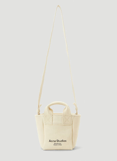 아크네 스튜디오 Acne Studios Aleah Canvas Crossbody Bag in Beige