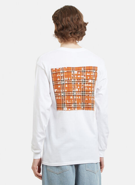 Berlin Community Radio The Long Sleeve Multi Check Patchwork Back T-Shirt