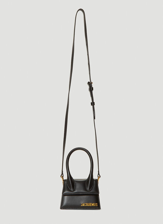 Jacquemus Leathers Le Chiquito Shoulder Bag in Black