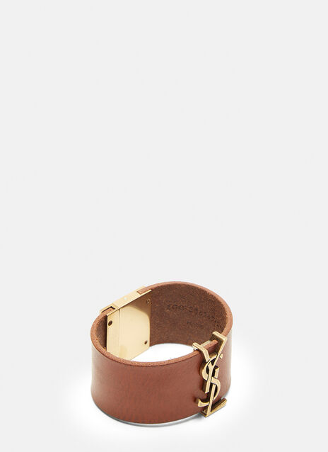 Saint Laurent Leather Hardware Cuff