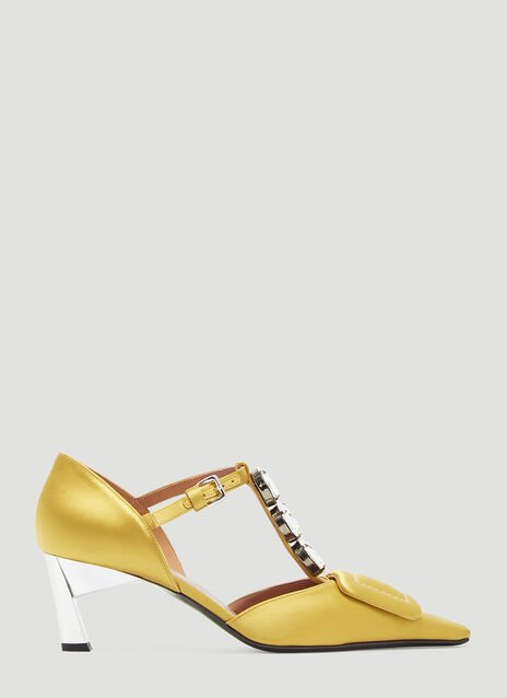 Marni Crystal and Satin Mary Jane Sandals