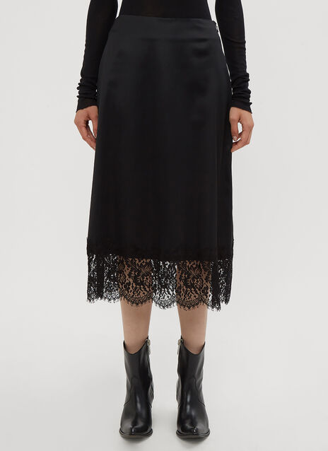Yang Li Minimal Lace Trim Skirt