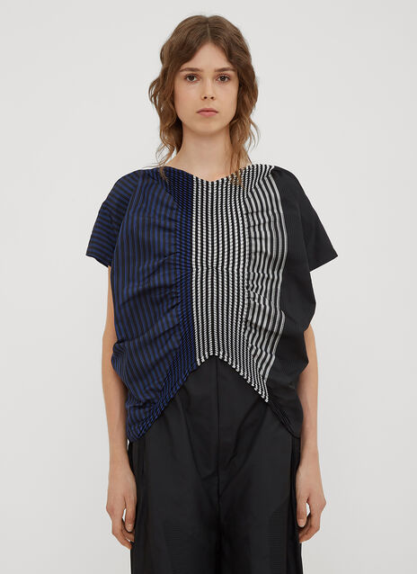 Issey Miyake Sunset Constructed Weave Top