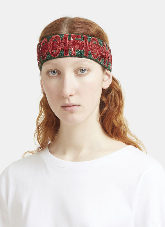 Gucci Guccification Sequinned Headband