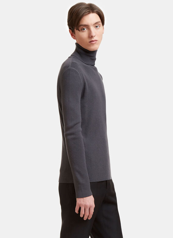 Aiezen AIEZEN Ribbed Polo Neck Sweater 3