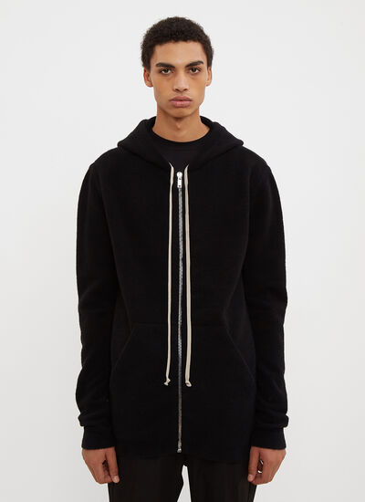 Rick Owens Hooded Zip-Up Sweater