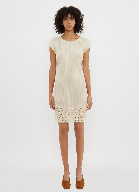 Pleats Please Issey Miyake Dots Lace Dress