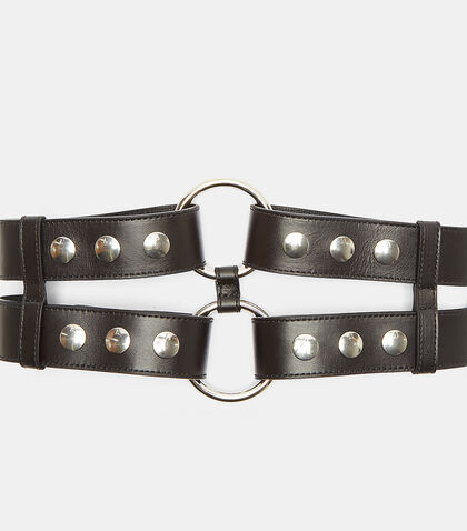 Double Bondage Snap Stud Belt