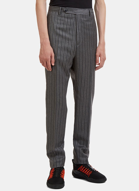D8 Top-Stitch Striped Pants