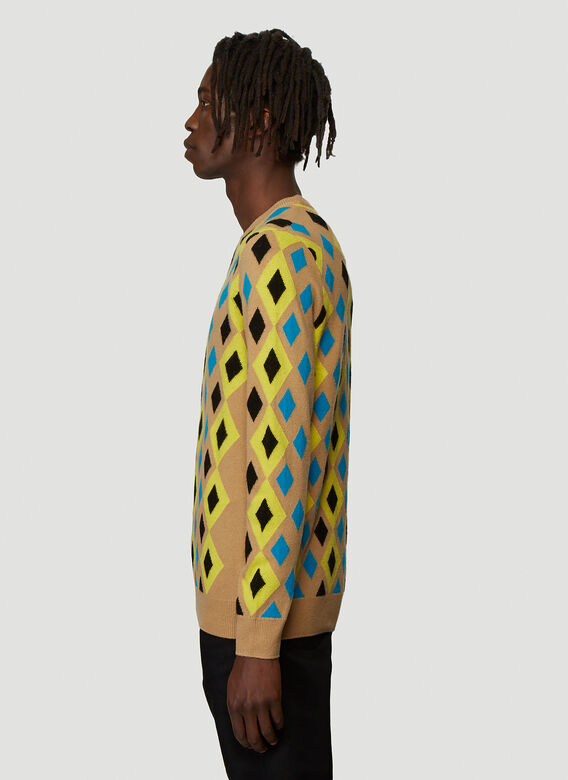 Pringle of Scotland ABSTRACT CAMEL PULLOVER 3