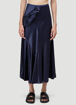 Simone Rocha BIAS SKIRT WITH TWISTED SIDE FRILL