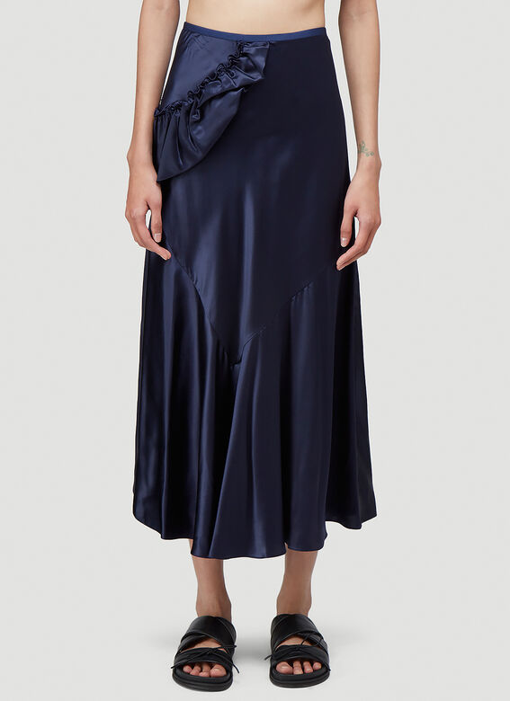 Simone Rocha BIAS SKIRT WITH TWISTED SIDE FRILL 1