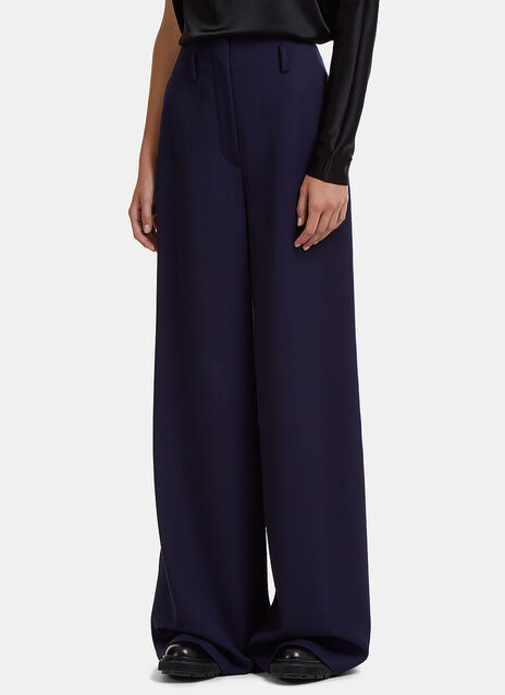 Lanvin High-Waisted Wide Leg Twill Pants