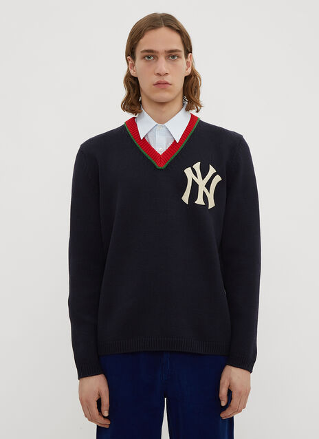Gucci NY Yankees V-Neck Sweater