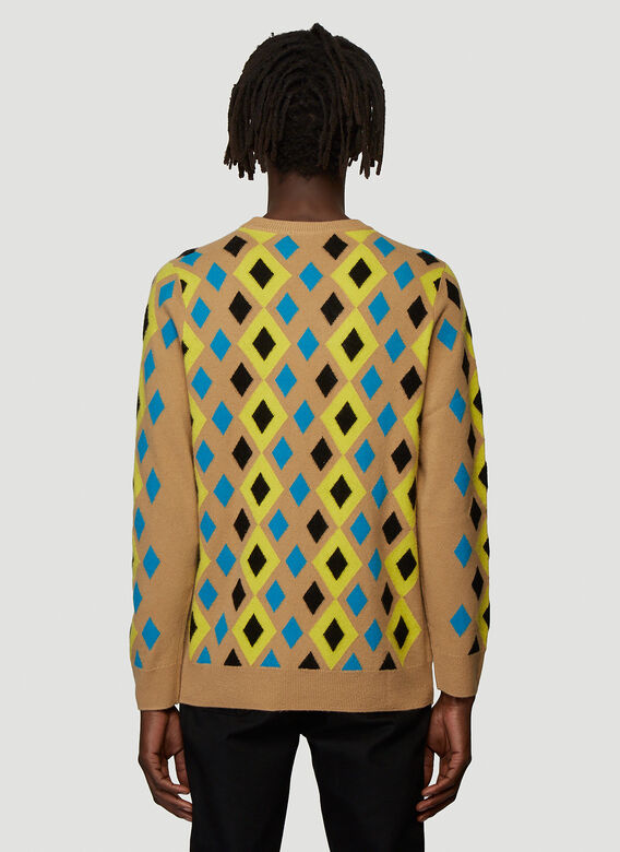 Pringle of Scotland ABSTRACT CAMEL PULLOVER 4
