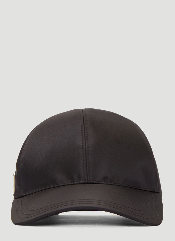 Prada Nylon Baseball Cap in Black  f82b6cb5b15