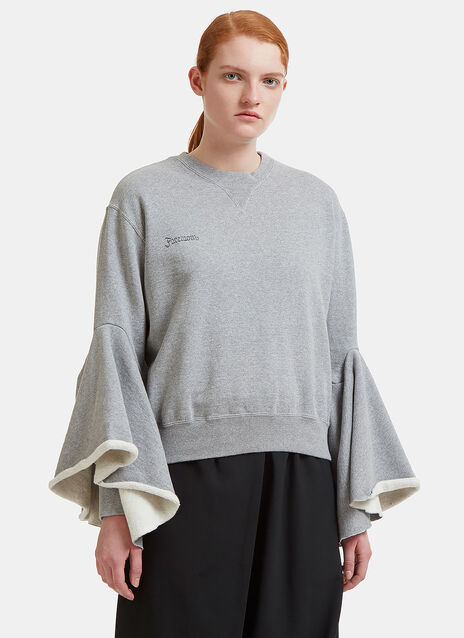 Facetasm Ruffle Sleeve Sweater