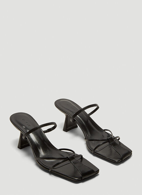 BY FAR Edita Leather Sandals   2