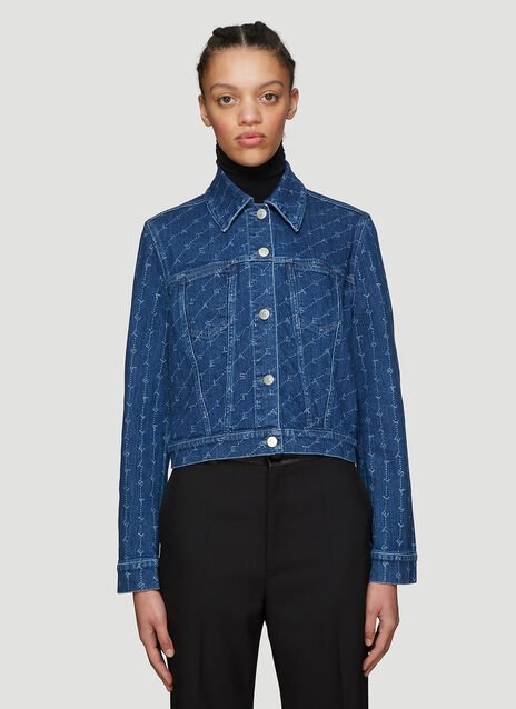 Stella McCartney Logo Print Denim Jacket