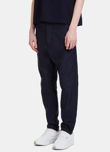 Mohsin Forest Dropped Crotch Twill Pants