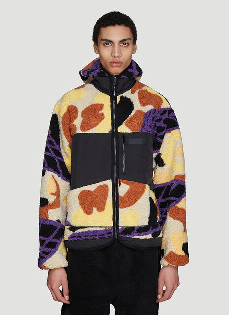 P.A.M Hooded DNA Camo Sherpa Jacket