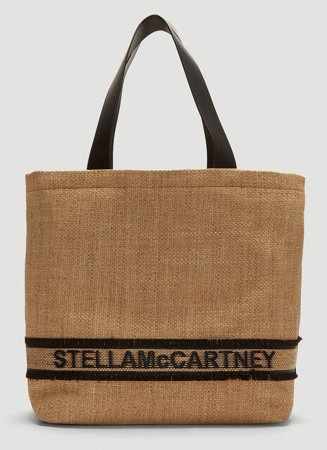 d3613890fde9 Stella McCartney Woven Logo Raffia Tote Bag