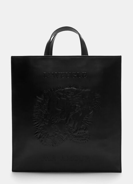 Gucci Bestiary Tiger Embossed Tote Bag