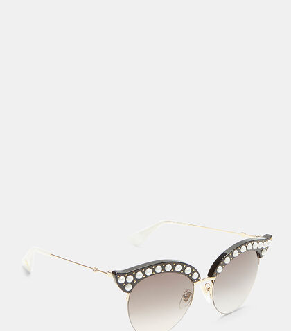Pearl Studded Cat Eye Sunglasses
