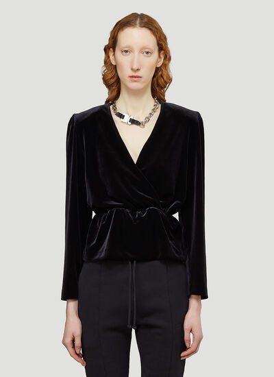 Vetements Velvet Wrap Blouse