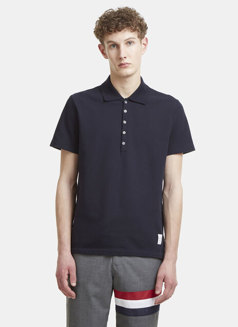 Thom Browne Striped Web Polo Shirt