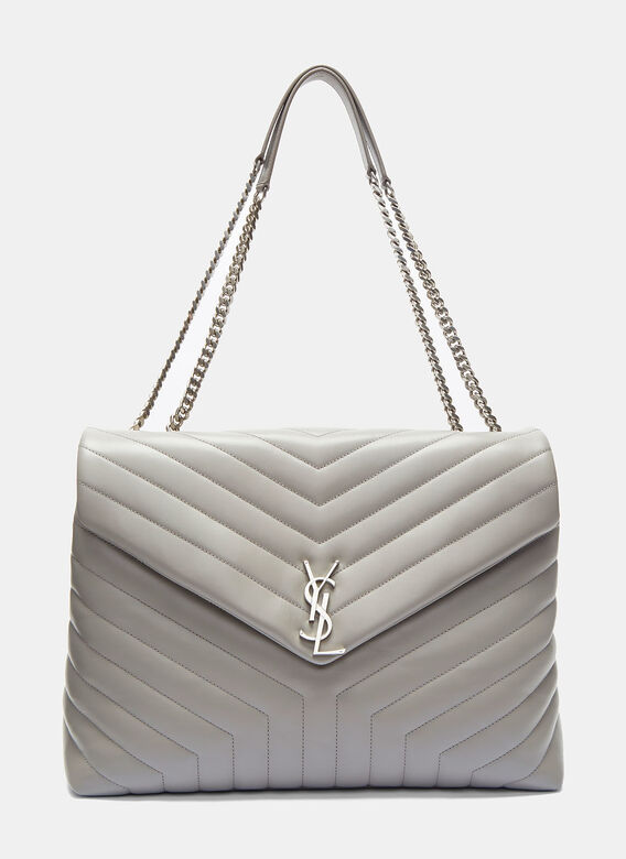 b22798307a2b Saint Laurent. Women s Large Loulou Monogram Chain Bag in Taupe