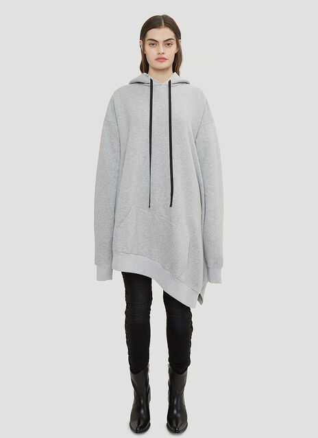 Unravel Project Oversized Hooded Asymmetric Cape Sweater