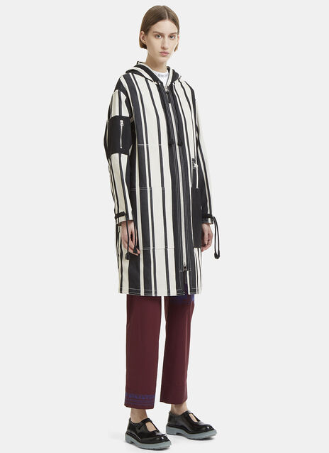 April Striped Drawcord Cuff Coat