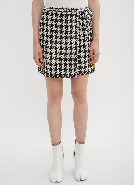 Off-White Pied De Poule Mini Skirt