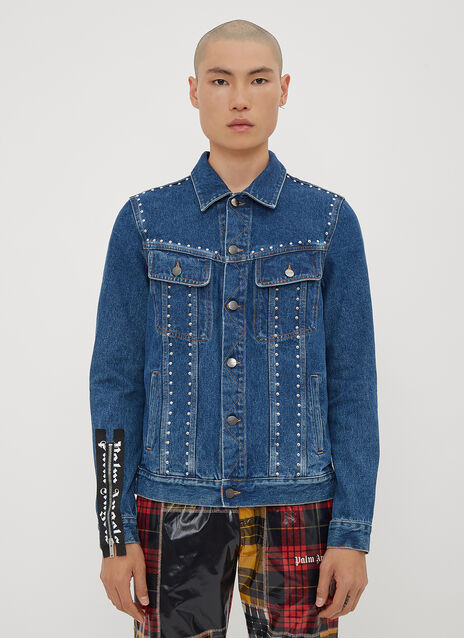 Palm Angels Studded Denim Jacket