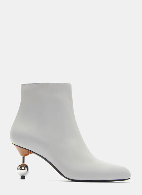 Sphere Heeled Ankle Boots