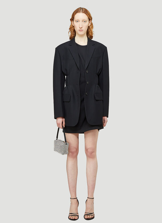 Alexander Wang FITTED SINGLE BREASTED BLAZER W/ CINCHED WAISTLINE 2