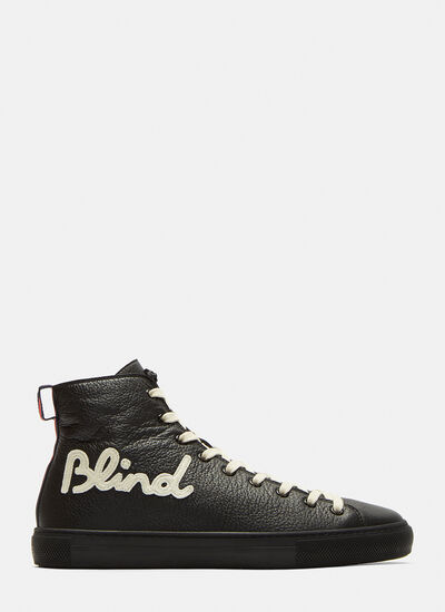 Blind for Love Embroidered High-Top Sneakers