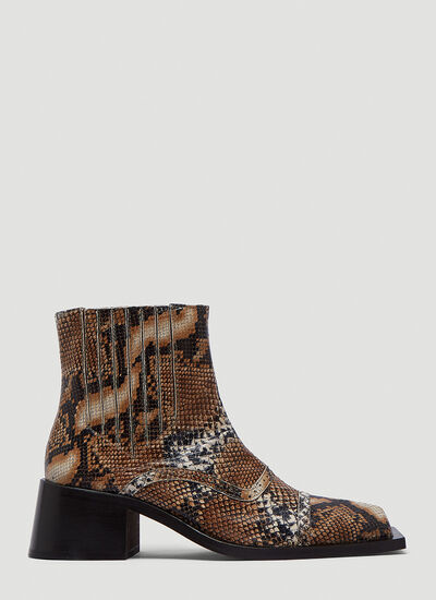 Martine Rose Square-Toe Boots