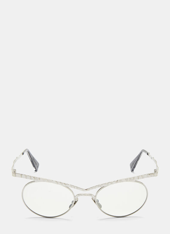 Mask H53 Chiselled Sunglasses In Silver by Kuboraum
