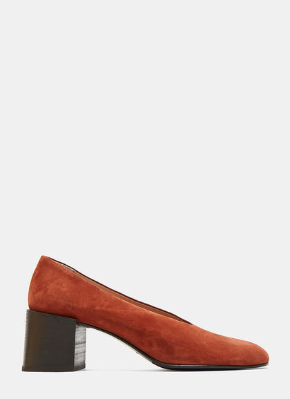 Image of Sully Reverse Suede Heeled Pumps