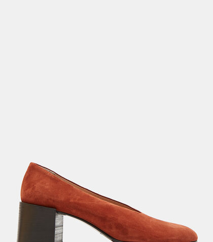 Sully Reverse Suede Heeled Pumps