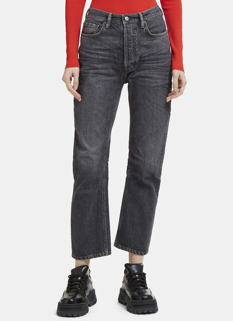 Acne Studios Log Used Straight Leg Jeans