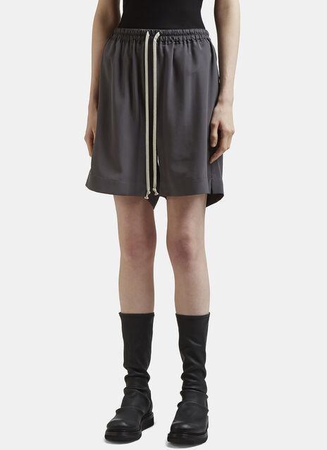 Rick Owens Drawstring Silk Shorts