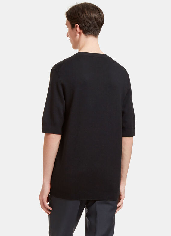 Aiezen AIEZEN Cashmere and Silk Knit T-shirt 4