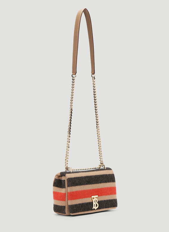 Burberry Lola Striped Wool Small Shoulder Bag 3