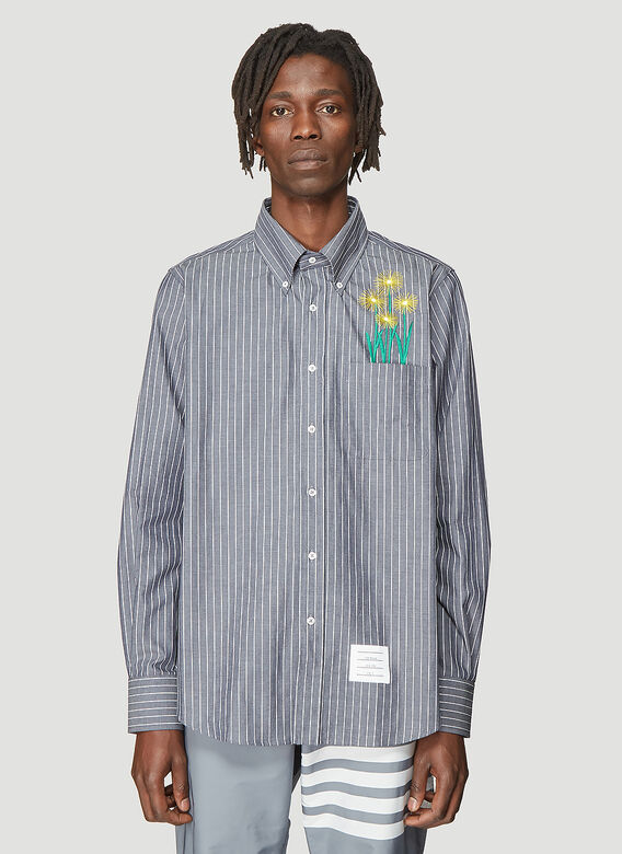ca873977fc29 Thom Browne Straight Fit Oxford Shirt in White