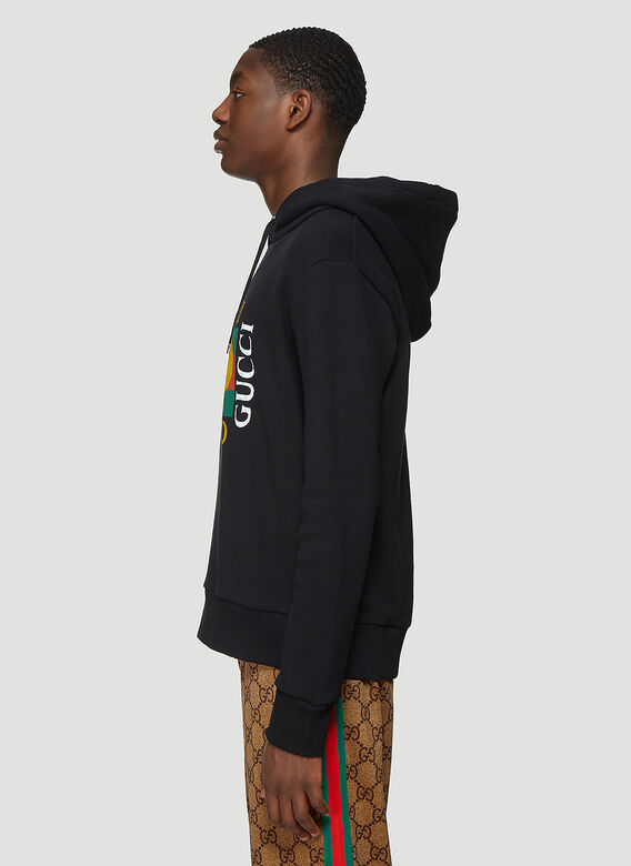 Gucci Gucci Fake Logo Hooded Sweatshirt 3