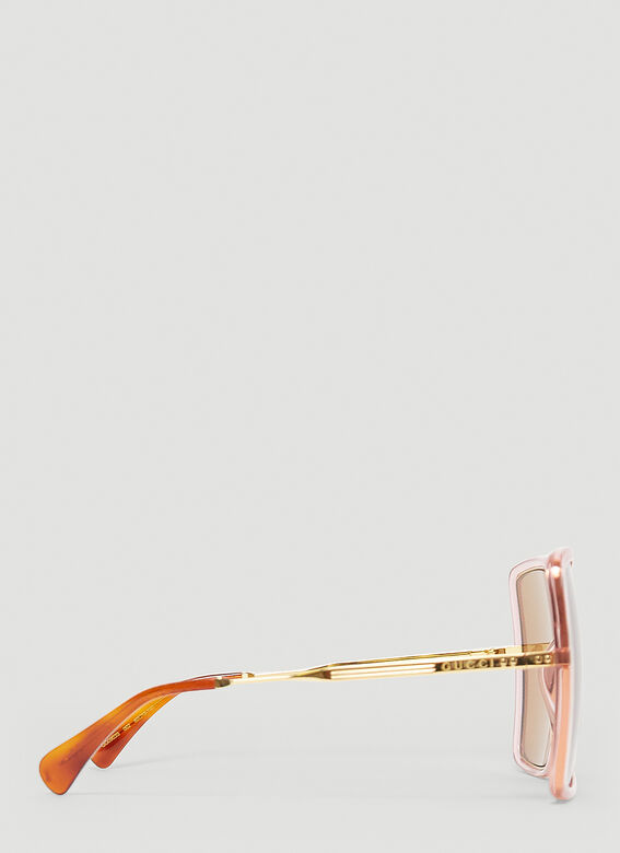 Gucci GG0903S WOMAN SUNGL - pink gold brown 4